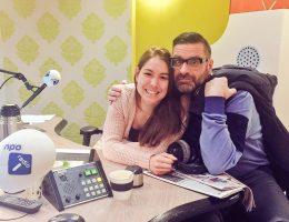 Amber en Jurgen bij Radio 1