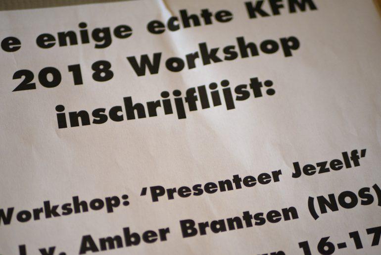 Workshop inschrijflijst Kermis FM 2018 Presenteer jezelf Amber