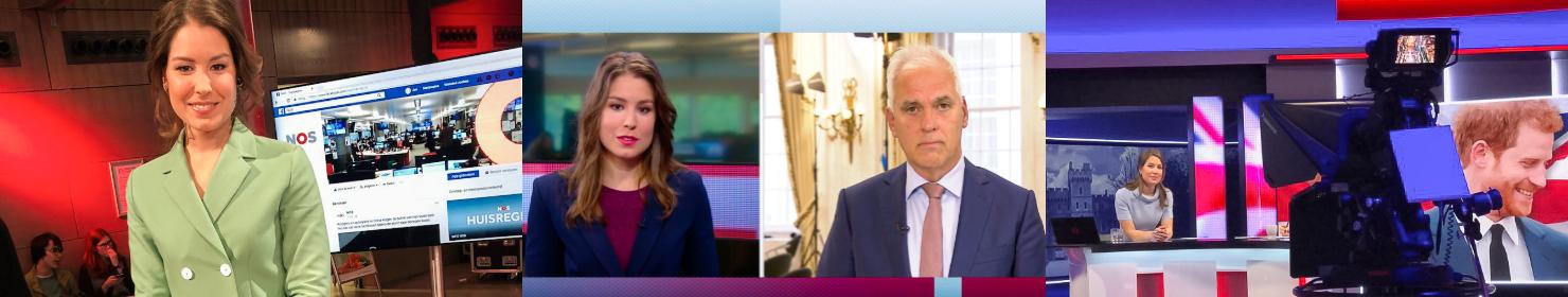 Nieuws of nonsens, presentatie regeerakkoord Rutte 3, bruiloft prins Harry en Meghan Markle. eenjarig jubileum op televisie