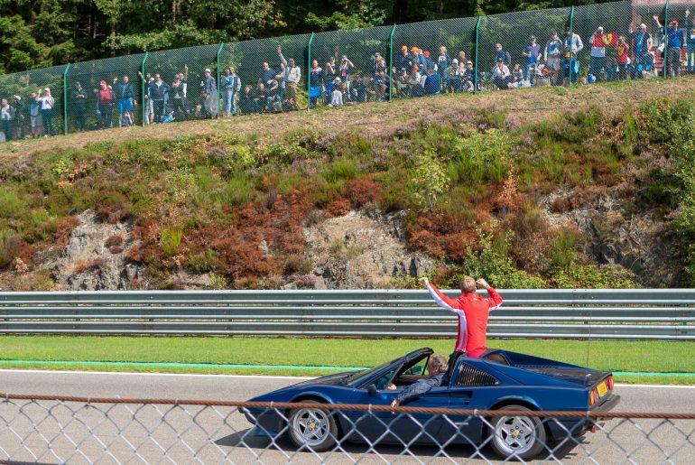 Drivers parade: Sebastian Vettel