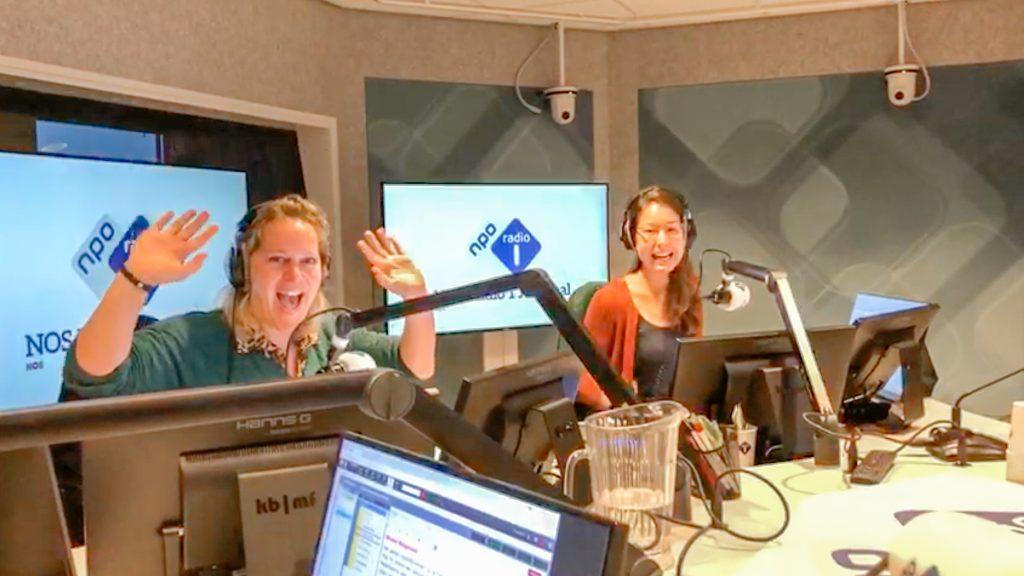 Elisabeth Steinz en Amber Brantsen Radio 1 Journaal