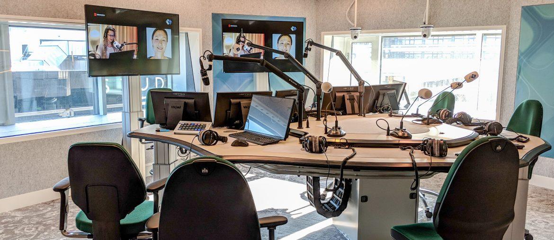 Radiostudio in het Radiohuis van de NPO