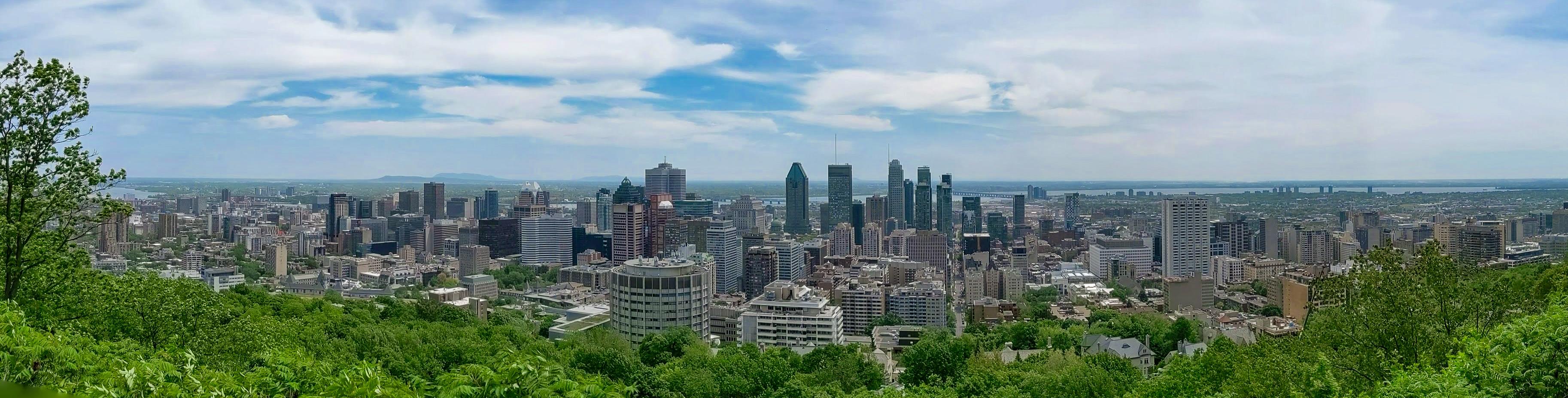 Panorama Montreal, vanaf de Mont Royal